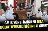 GMİS YÖNETİMİNDEN MTA BÖLGE TEMSİLCİLİĞİ'NE ZİYARET