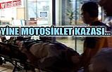 MOTOSİKLET KAZASI SONUCU 2 KİŞİ YARALANDI