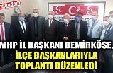 MHP İL BAŞKANI DEMİRKÖSE, İLÇE BAŞKANLARIYLA TOPLANTI DÜZENLEDİ
