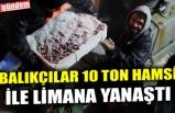 BALIKÇILAR 10 TON HAMSİ İLE LİMANA YANAŞTI