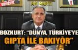 """BOZKURT: """"DÜNYA, TÜRKİYE'YE GIPTA İLE BAKIYOR"""""""