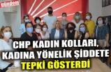 CHP KADIN KOLLARI, KADINA YÖNELİK ŞİDDETE TEPKİ GÖSTERDİ