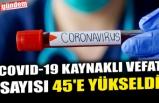 COVID-19 KAYNAKLI VEFAT SAYISI 45'E YÜKSELDİ
