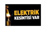 ELEKTRİK KESİNTİSİNE DİKKAT!