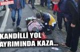 KANDİLLİ YOL AYRIMINDA KAZA...