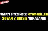 SANAYİ SİTESİNDEKİ OTOMOBİLLERİ SOYAN 2 HIRSIZ YAKALANDI