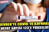 DEVREK'TE COVID-19 KAYNAKLI VEFAT SAYISI 123'E YÜKSELDİ