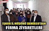 İŞKUR İL MÜDÜRÜ DEMİRSU'DAN FİRMA ZİYARETLERİ