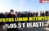 FİLYOS LİMAN ALTYAPISI %95.5'E ULAŞTI