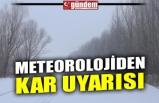 METEOROLOJİDEN KAR UYARISI