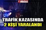 TRAFİK KAZASINDA 2 KİŞİ YARALANDI