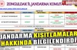 JANDARMA KISITLAMALAR HAKKINDA BİLGİLENDİRDİ