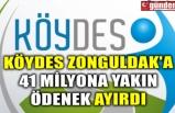 KÖYDES ZONGULDAK'A 41 MİLYONA YAKIN ÖDENEK AYIRDI