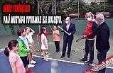 Minik tenisçiler ile Vali Mustafa Tutulmaz Buluştu