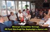 Almanya Ormanlılılar Derneği , AK Parti Kdz.Ereğli İlçe Başkanlığı'nı ziyaret etti.
