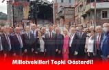 İsmet İnönü Anıtı önünde toplanan milletvekilleri yaşanan duruma tepki gösterdi.