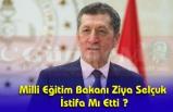 Milli Eğitim Bakanı Ziya Selçuk İstifa Mı Etti ?