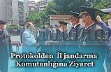 Protokolden  İl jandarma Komutanlığına Ziyaret