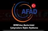 AFAD'dan Bartın'daki Çalışmalara İlişkin Açıklama