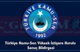 Türkiye Kamu-Sen Yüksek İstişare Kurul Sonuçları Açıklandı