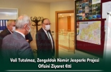 Vali Tutulmaz, Zonguldak Kömür Jeoparkı Projesi Ofisini Ziyaret Etti