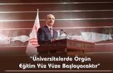 YÖK Başkanı Özvar'dan 'Yüz Yüze Eğitim' Açıklaması