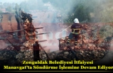 Zonguldak Belediyesi İtfaiyesi Manavgat'ta Söndürme İşlemine Devam Ediyor