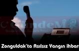 Zonguldak'ta Asılsız Yangın ihbarı