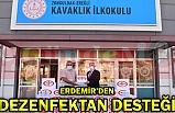 ERDEMİR'DEN  DEZENFEKTAN DESTEĞİ