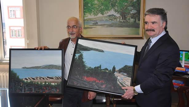 Zonguldak'lı ressam'dan okullara tablo jesti