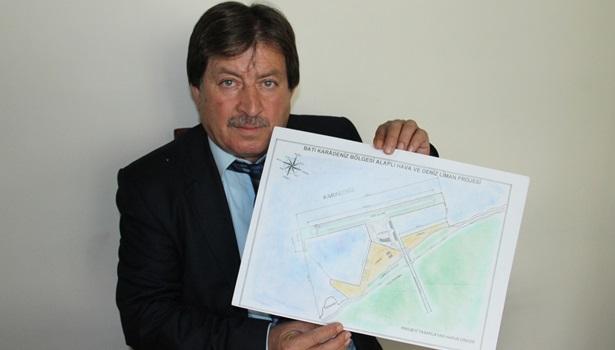 Alaplı'ya havaalanı ve liman projesi hazırladı
