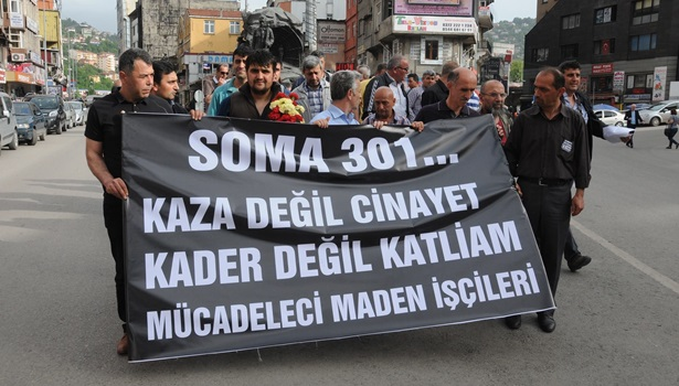 Zonguldak´ta Soma'daki maden faciasında ölenler unutulmadı