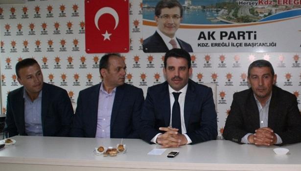 Çakır, AK Parti'nin Ereğli'de yaptığı çalışmalar ile ilgili bilgi verdi