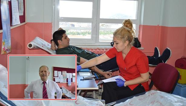 Gülüç İbrahim İzmirli Anadolu Lisesinde kan bağışı kampanyası düzenlendi