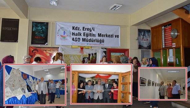 Ereğli Halk Eğitim  Merkezi Müdürlüğü yıl sonu sergisini açtı
