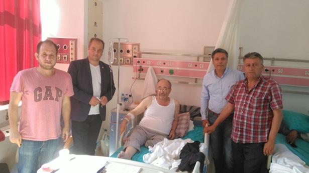 Başkan Ocakcı,Partisinin Üyesini hastane´de ziyaret etti