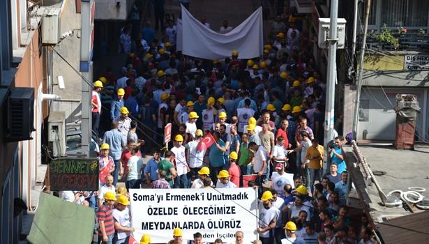 5 bin 500 madenciyle ´Özelleştirmeye Hayır´ eylemi