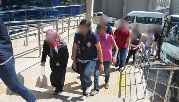 FETÖ soruşturmasında gözaltındaki 10 şüpheli adliyeye sevk edildi