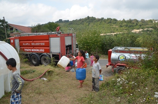 Fındık işçilerinin su ihtiyacını belediye karşılıyor