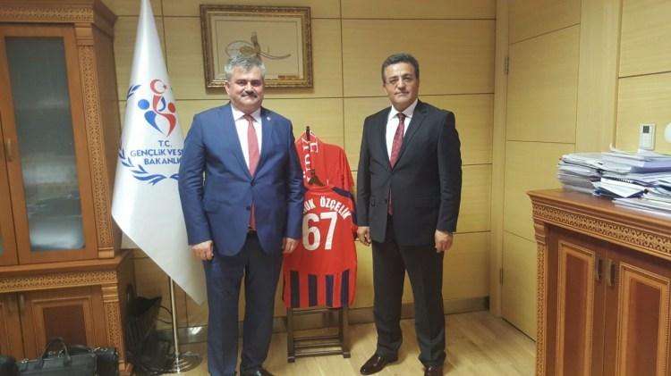 Çaturoğlu; Gençlik ve Spor bakanlığı ile PTT genel müdürlüğünü ziyaret etti