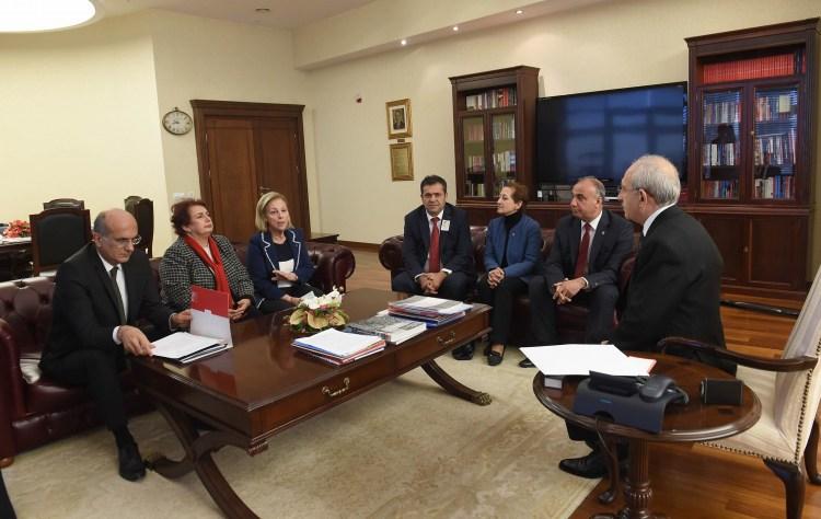 Kılıçdaroğlu, dernek ve sendikaların yöneticileriyle görüştü