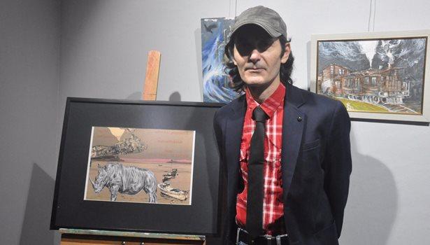 Tokmak 'Şehirdeki Gergedan 2' sergisini açtı