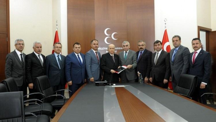 GMİS,MHP Lideri ile görüştü