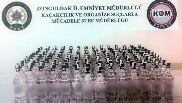 Yılbaşı öncesi 156 şişe kaçak rakı ele geçirildi
