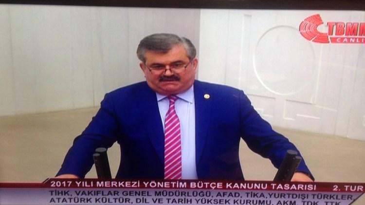 Çaturoğlu, Başbakanlık Afet ve Acil Durum Yönetimi Başkanlığının 2017 yılı bütçesi  üzerinde konuştu