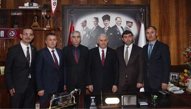 Başbakan Binali Yıldırım GMİS'i ziyaret etti