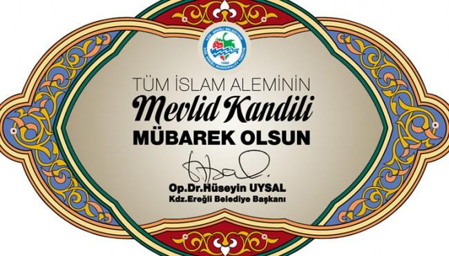 Başkan Uysal'ın mevlid kandili mesajı