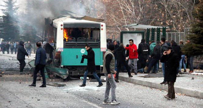 Kayseri Erciyes Üniversitesi önünde büyük patlama: Ölü ve yaralılar var