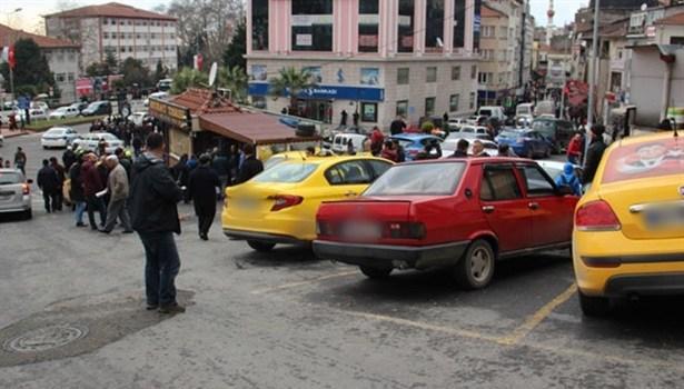 Ereğli´de taksi durağında otopark kavgası