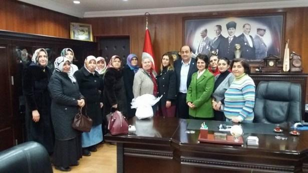 Gülüçlü bayanlardan Başkan Demirtaş'a teşekkür ziyareti